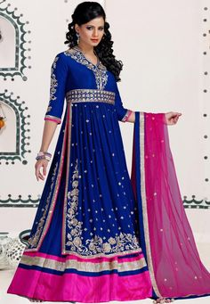 #Blue #Net Readymade Lehenga Choli with Dupatta  Item Code: LRQ12  Price: $1234.00