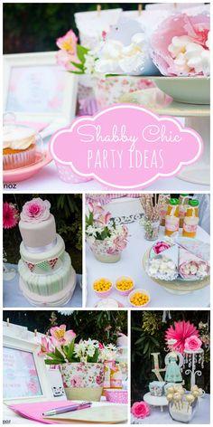 A lovely pastel shabby chic birthday party