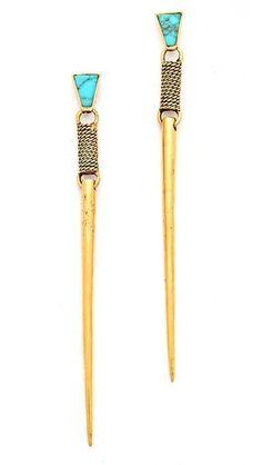 Dzil Long Spike Drop Earrings by A Peace Treaty