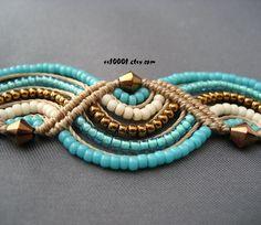 Macrame + beads.