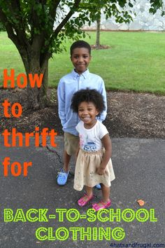 How to thrift for back-to-school clothing - 4 Hats and Frugal