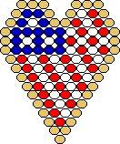 Free 4th of July Heart Earring Pattern by Shala Kerigan featured in Bead-Patterns.com Newsletter!