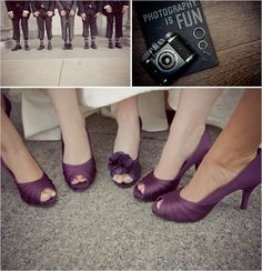 purple shoes for bride and bridal party