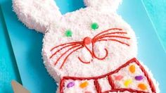 Bunny Cake from #KraftRecipes very similar to mine but looks so much better...lol. holiday, fun food, food idea, bunni cake, easter food, cake kraftfood, easter bunni, easter bunny, birthday cakes