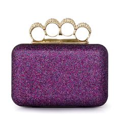 Brass knuckles ring clutch IN PURPLE!!