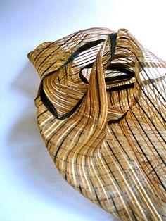 Mini shopping bag in polyester Sheer gold black by AlexandraFamer, €15.00