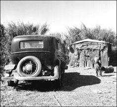 Dwelling for migrant workers: Belle Glade, Florida (1939).  Great Depression Time.
