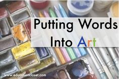 Two unique strategies for using art as a prompt for poetry and close reading.  From www.educationcloset.com close read, word art