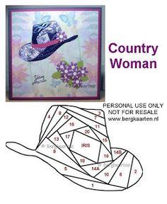 Cowgirl Hat Iris Fold