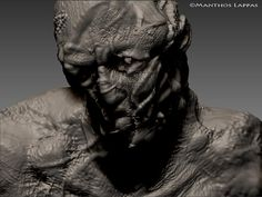 One shot out of many of a 3D mutant sculpt made by my talented bf - Manthos Lappas. <3  http://www.facebook.com/pages/Manthos-Lappas-Fan-Page/157180254361818