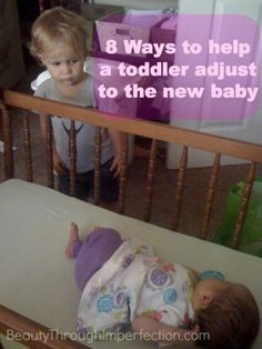 8 ways to help a toddler adjust to the new baby.