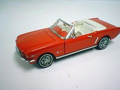 Franklin Mint diecast model - '64 1/2 Red Ford Mustang Convertible in 1/16 scale $85.00
