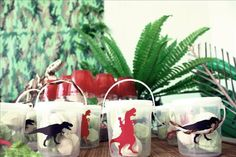 Dulces para una fiesta dinosaurio / Sweet boxes for a dinosaur party