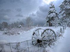 winter snow, wagon wheels, winter sceneri, winter wonderland, wallpapers, beauti, winter scenes, old wagons, country
