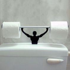 Strong Man Toilet Paper Holder