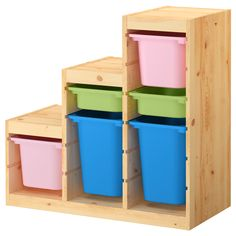 TROFAST Storage combination with boxes - IKEA $113.99
