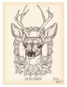 deer tattoo II
