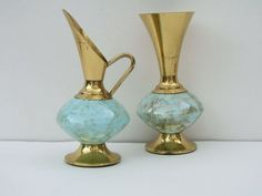 marble pitcher and vase