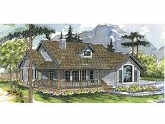 Exceptional Views Throughout (HWBDO59456) | Cottage House Plan from BuilderHousePlans.com  I would modify kitchen and change family room to dining room. Est. Cost to Build $170,000