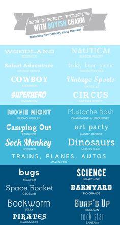 23 Free Fonts with Boyish Charm » Hello Love Designs