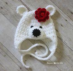 crochet hat, hats, crochet polar, polar bears, hat patterns, crochet patterns, yarn, repeat crafter, bear hat