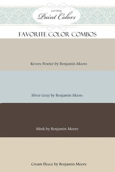 Paint Colors -- This blog has tons of color combinations including the paint names. (click show all posts at the top or sort posts by a certain color you are searching for)