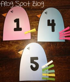 FREE Number Card Activities - Pin the Tail on the Bird.