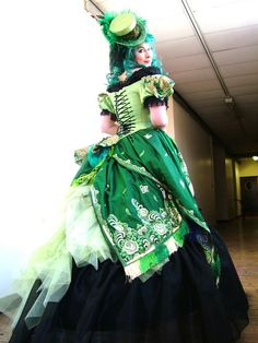 Steampunk Absinthe Faerie Costume. Is this using sari fabric?  Awesome!