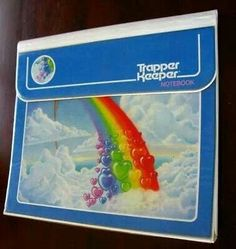 Rainbow hearts Old School Trapper Keeper. #1980s #80s