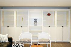 Ikea Billy Bookcase turned Built-In. Oh yeeeeaaaah.