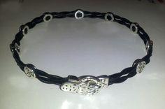 "4 Strand Black Twist Leather Collar - ""Old World"" BDSM Emblems - Unique Buckle Closure      Item (40). $20.00, via Etsy."