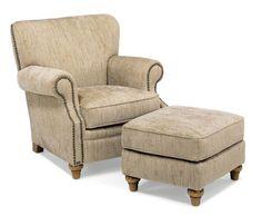 Flexsteel Furniture: Lounge Chairs: KillarneyChair & Ottoman (7860-10-08)