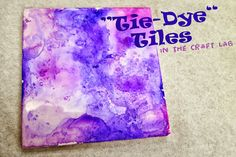 """Craft Lab: """"Tie-Dye"""" Tiles : library makers"""