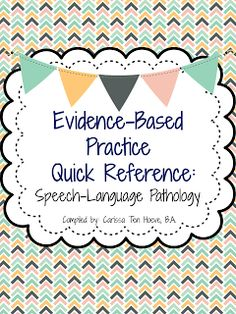 """A quick reference binder to help you implement Evidence-Based Practice into your therapy and to answer the question, """"Why are you doing what you're doing?"""" $"""