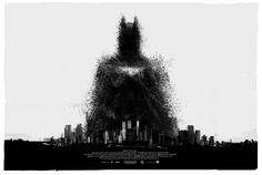 The Dark Knight Rises - Mondo Comic-con Poster