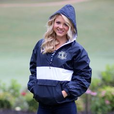 Monogrammed Marley Lilly Rain Jacket
