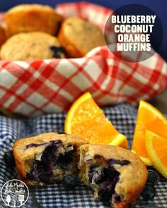 These blueberry coconut and orange muffins are so flavorful and they're even healthy too. #lmldfood
