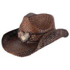 Shyanne® Women's Floral Heart Straw Hat