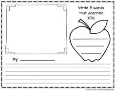 Our Class: A Getting to Know You Class Book. Book Cover and writing printables. Free download.
