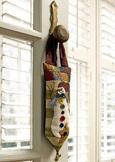snowman quilt door hanger