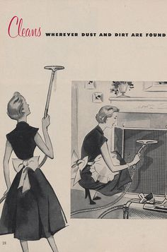 That is always a positive trait when it comes to vacuums! :) #vintage #1950s #ad #cleaning #homemaker
