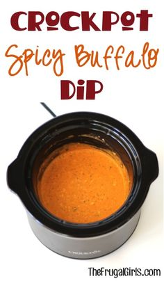 Crockpot Spicy Buffalo Dip Recipe! ~ from TheFrugalGirls.com ~ this delicious dip is full of spice and zing. Let the party begin!! #slowcooker #dips #thefrugalgirls