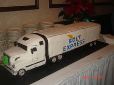 Semi trucks 3d cake pictures | ... cakes. Tires made from rice cereal treats covered in fondant. Cake