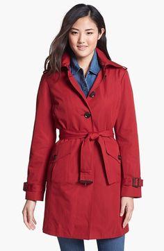 MICHAEL Michael Kors Trench Coat with Detachable Hood (Regular & Petite) (Nordstrom Exclusive) | Nordstrom