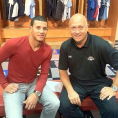 Manny Machado and Cal Ripken. Two baseball greats.