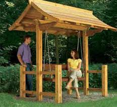 Build a Sheltered Swing with a free, illustrated building guide from The Handyman Club.