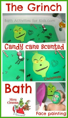 Bring How the Grinch Stole Christmas to life with a fun and special bath! Cherished Christmas memories, priceless photos, simple holiday FUN!