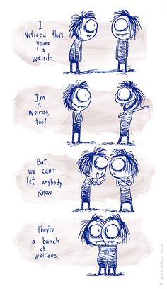 Own your weirdness! When you make introvert friends!!!! Hahah