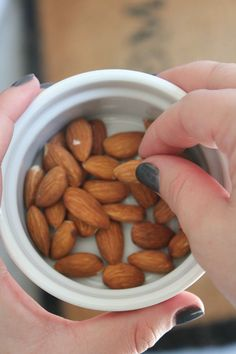 Raw almonds are one