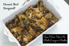 Ground Beef Stroganoff Recipe with Lasagna Noodles by Angela Roberts